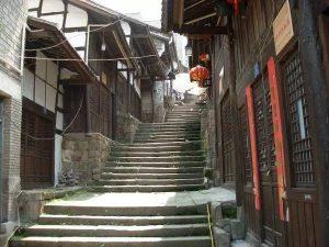 传统重庆梯坎巷子